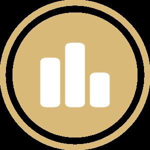 symbole - icone - picto illustrant la gestion et le conseil pictogramme de couleur or (charte du cabinet d'Estelle Fontanès) cabinet d'expertise comptable