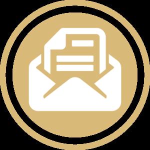 symbole - icone - picto illustrant les valeurs de la société fontanès - sigle de la paperasse - couleur or (charte du cabinet d'Estelle Fontanès) cabinet d'expertise comptable