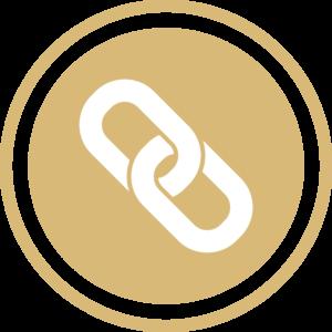 symbole - icone - picto illustrant les valeurs de la société fontanès - sigle de la proximité - couleur or (charte du cabinet d'Estelle Fontanès) cabinet d'expertise comptable