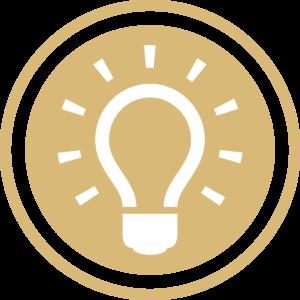 symbole - icone - picto illustrant la mission du social (bulletin de salaire, RH...) de couleur or (charte du cabinet d'Estelle Fontanès) cabinet d'expertise comptable